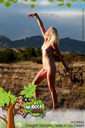 PHOTOSET Tatyana Caught! Romping Nude in the Desert