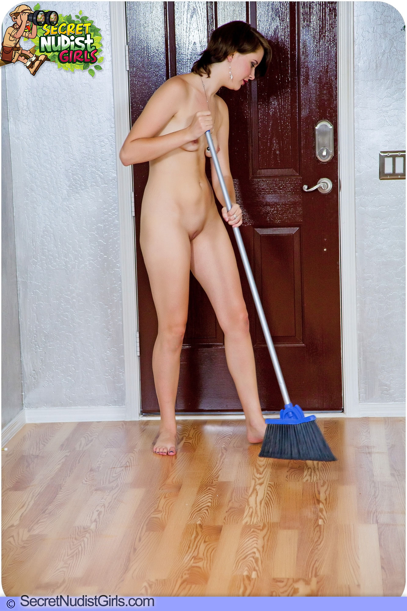 Were not nude girls cleaning house was