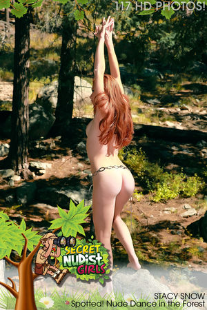 PHOTOSET Stacy Snow Spotted! Nude Dance in the Forest